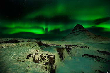 Northern Lights In Iceland At Night